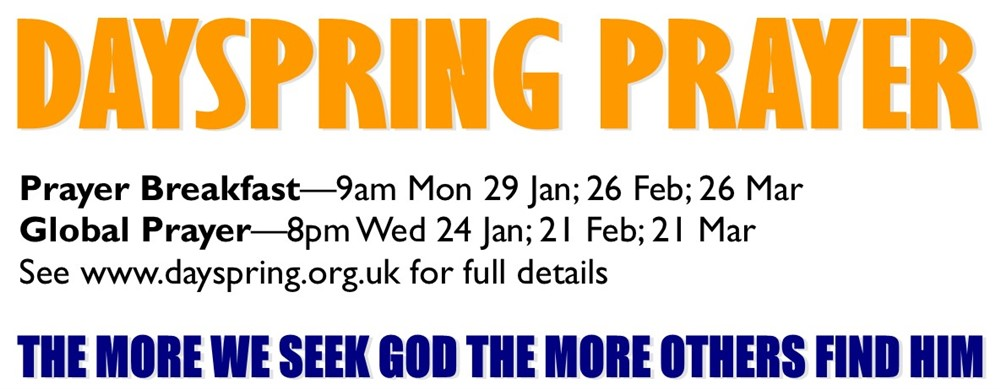 Opportunities to pray at Dayspring